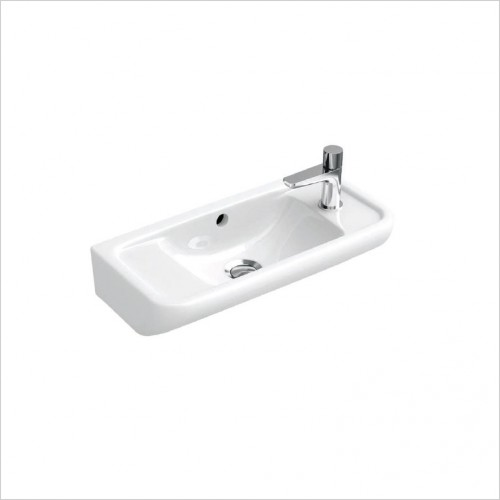 Bathwise Washbasin & Furniture - Curve-line 530x250mm washbasin 1TH