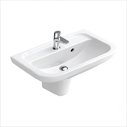 Bathwise - Curve-line 505x400mm washbasin 1TH