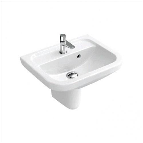 Bathwise - Curve-line 460x480mm washbasin 1TH