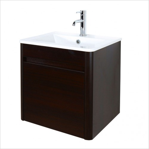 Bathwise Washbasin & Furniture - Curve-line 500mm basin and vanity unit 1TH