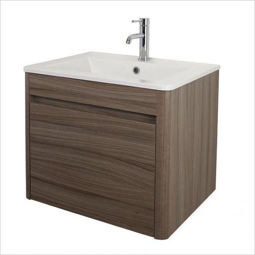 Bathwise Washbasin & Furniture - Curve-line 600mm basin and unit 1TH