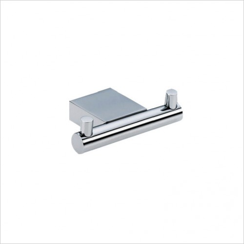 Bathwise Accessories - Straight-line double robe hook
