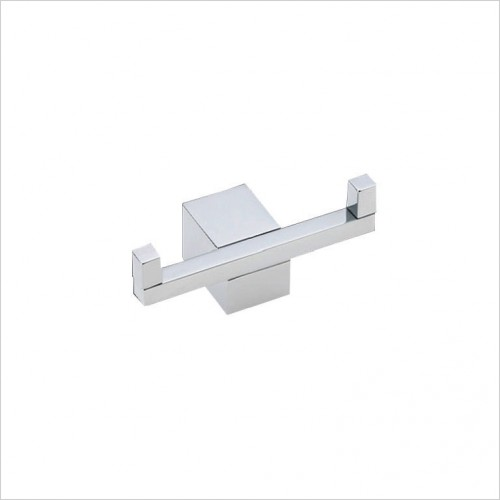 Bathwise Accessories - Cube-line double robe hook