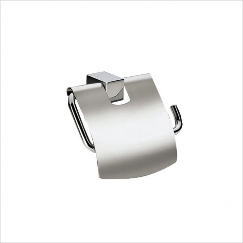 Bathwise Accessories - Cube-line toilet roll holder with cover