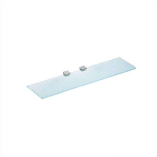 Bathwise Accessories - Cube-line glass shelf 400x110mm