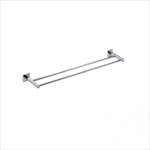 Bathwise Accessories - Square-line double towel rail 450mm