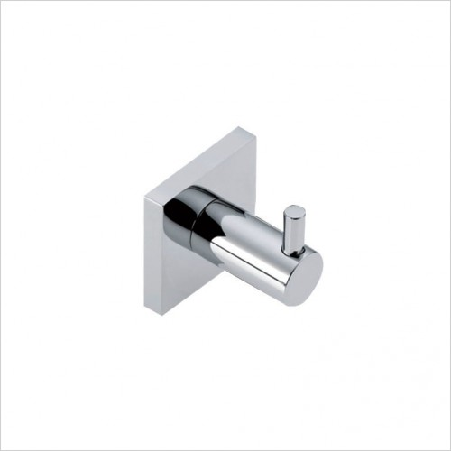 Bathwise Accessories - Square-line single robe hook
