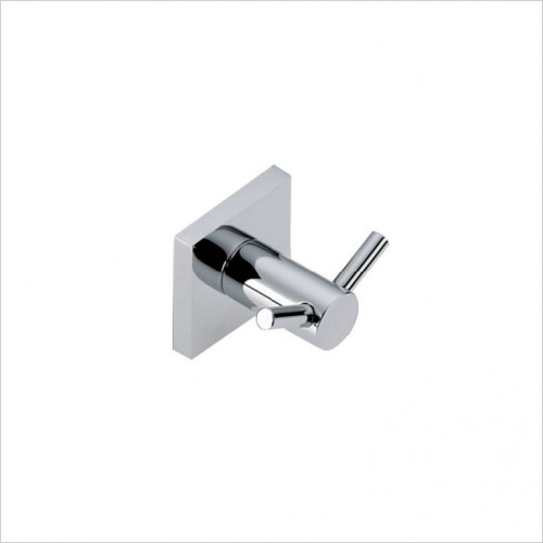 Bathwise Accessories - Square-line double robe hook