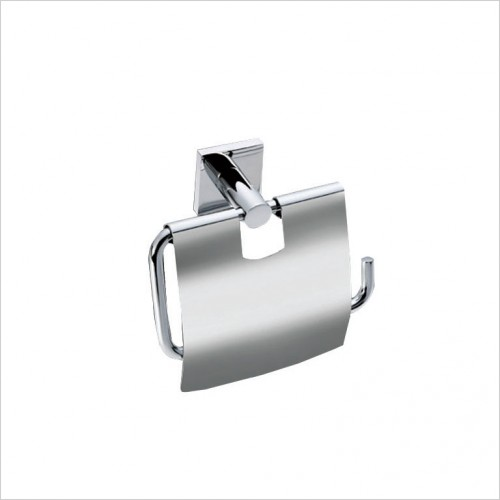 Bathwise Accessories - Square-line toilet roll holder with cover