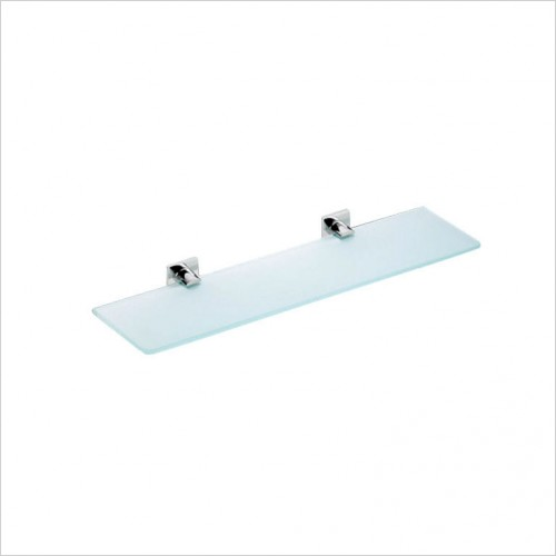 Bathwise Accessories - Square-line glass shelf 400x110mm