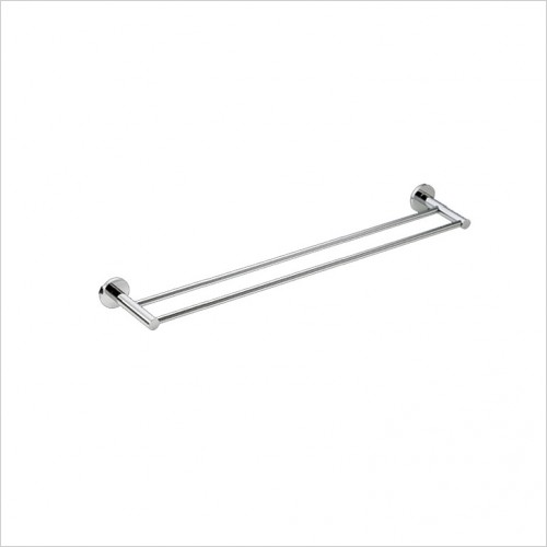 Bathwise Accessories - Comfort-line double towel rail 650mm