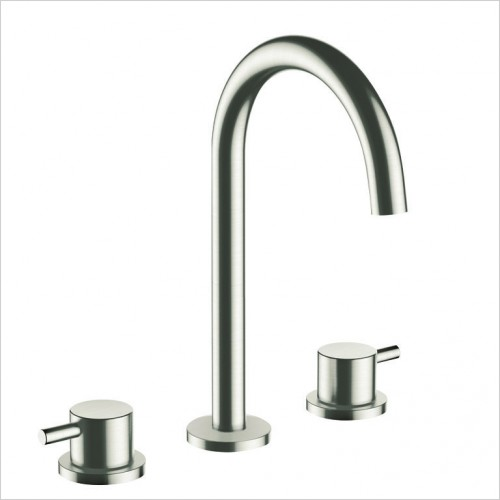 Bathwise brassware - Colour-line IV 3th basin mixer waste excludud