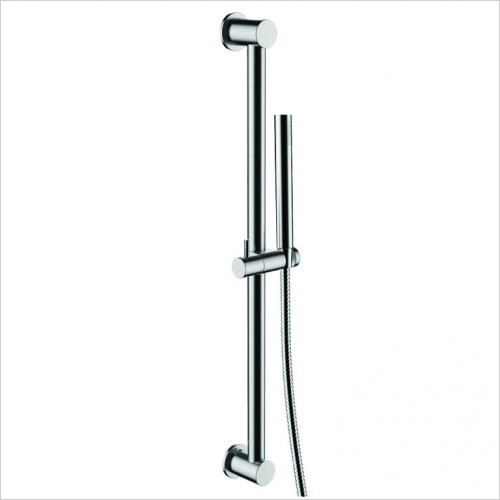 Bathwise brassware - Colour-line IV 600mm slide rail shower set