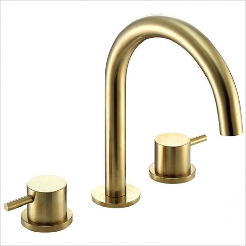 Bathwise brassware - Colour-line II 3th basin mixer excluding waste
