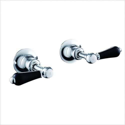 "Bathwise brassware - Oxford-line 1/2"" lever panels black lever"