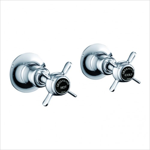 "Bathwise brassware - Oxford-line pinch panel valves 1/2"" black indice"