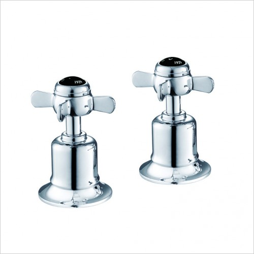 "Bathwise brassware - Oxford-line pinch deck panel valves 3/4"" black indice"