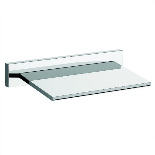 Bathwise brassware - Edge-line waterfall spout or fixed head