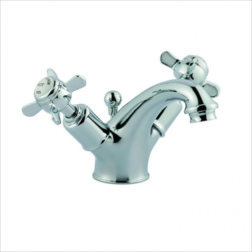 Bathwise brassware - Oxford-line pinch basin mixer with pop up waste