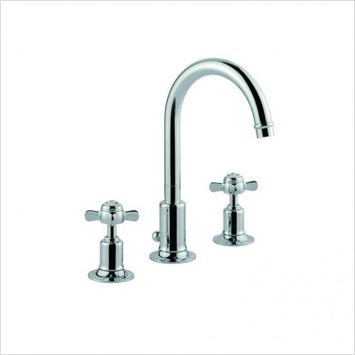 Bathwise brassware - Oxford-line pinch 3 hole basin mixer