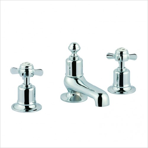 Bathwise brassware - Oxford-line 3 hole basin mixer