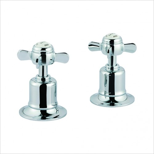Bathwise brassware - Oxford-line pinch deck panel valves