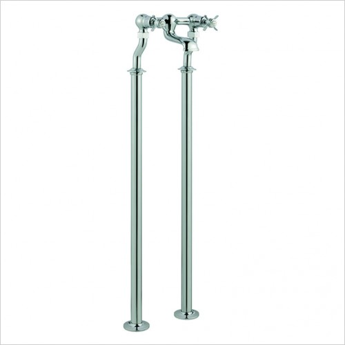 Bathwise brassware - Oxford-line pinch free standing bath filler