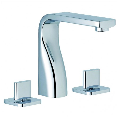Bathwise brassware - Pure-line 3th basin mixer excluding waste