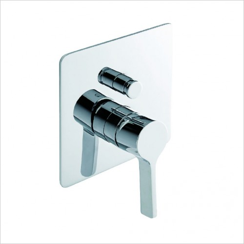 Bathwise brassware - Pure-line manual valve with divertor