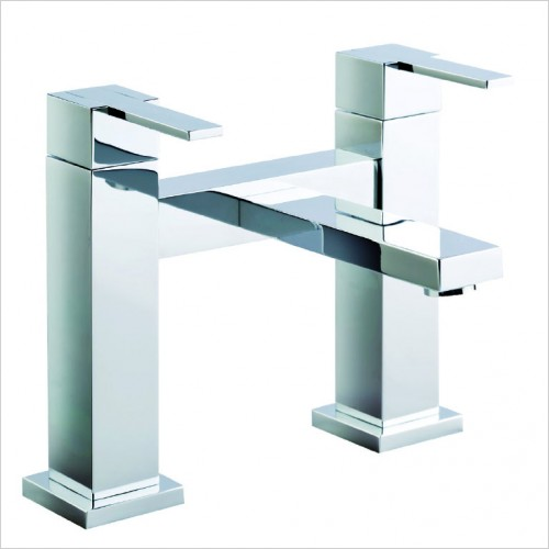 Bathwise brassware - Cube-line deck mount bath filler