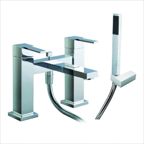 Bathwise brassware - Cube-line deck mount bath shower mixer