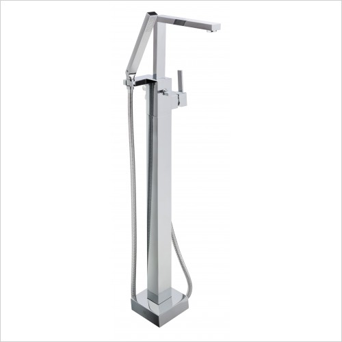 Bathwise brassware - Cube-line floor standing single lever bath shower mixer