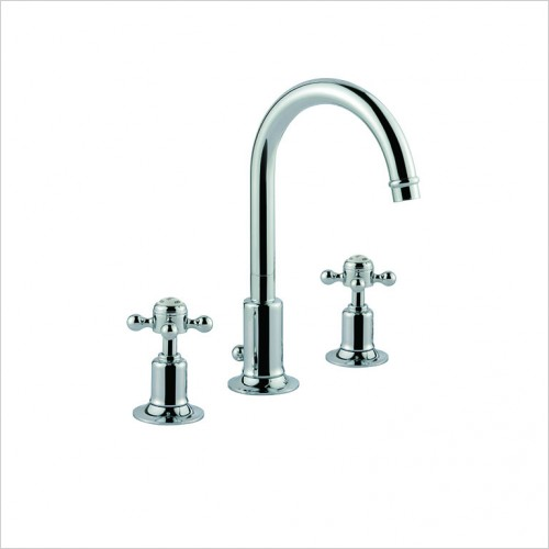 Bathwise brassware - Oxford-line 3th basin mixer with pop up waste