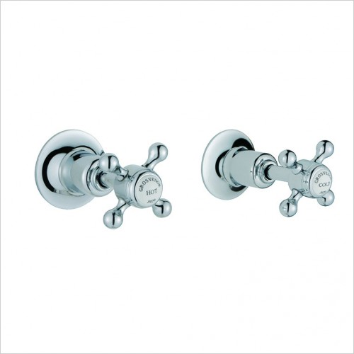 Bathwise brassware - Oxford-line wall panel valves 1/2""