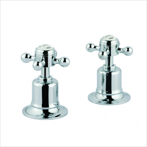 Bathwise brassware - Oxford-line deck panel valves 3/4""