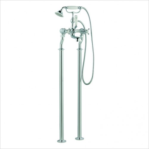 Bathwise brassware - Oxford-line floor standing bath shower mixer incl. kit