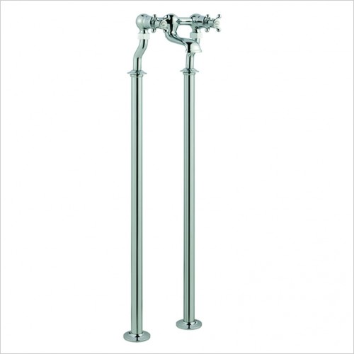 Bathwise brassware - Oxford-line floor standing bath filler