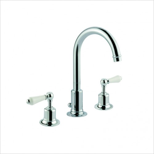 Bathwise brassware - Oxford-line lever 3th basin mixer with pop up waste
