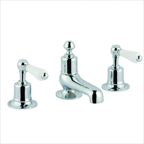 Bathwise brassware - Oxford-line II lever 3th basin mixer with pop up waste