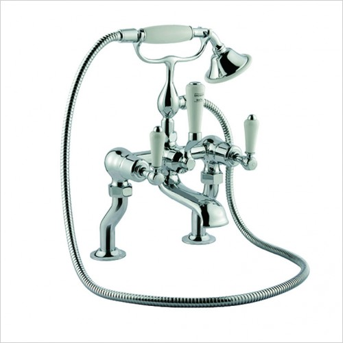 Bathwise brassware - Oxford-line II deck mount lever bath shower mixer incl. kit