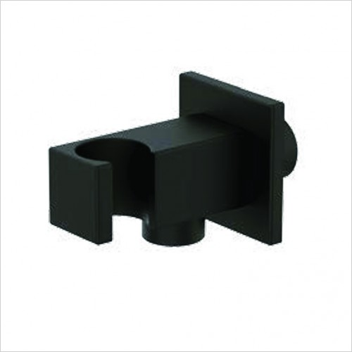 Bathwise brassware - Colour-line VII square outlet holder