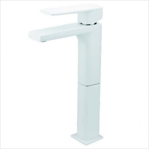 Bathwise brassware - Colour-line VIII square tall basin mixer with click waste