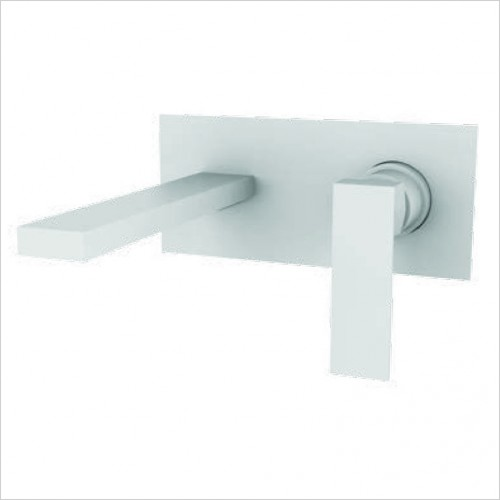 Bathwise brassware - Colour-line VIII square 200mm wall mount basin mixer