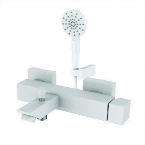 Bathwise brassware - Colour-line VIII wall mounted bath shower mixer incl. kit