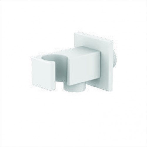 Bathwise brassware - Colour-line VIII square shower outlet holder