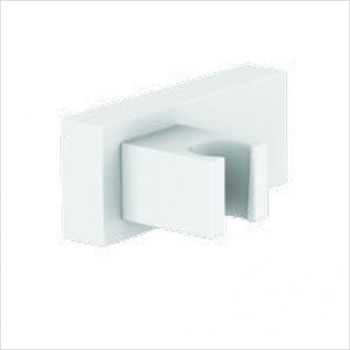 Bathwise brassware - Colour-line VIII square wall bracket
