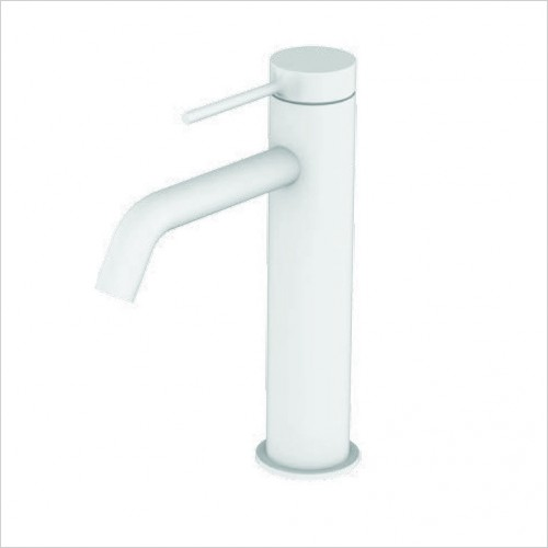 Bathwise brassware - Colour-line V basin mixer with click waste 195mm height
