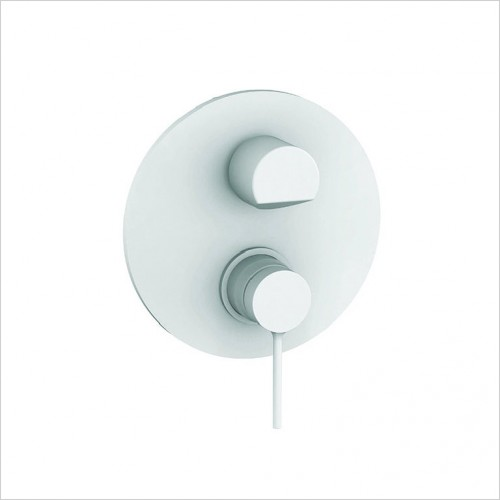 Bathwise brassware - Colour-line V round 2 outlet manual valve