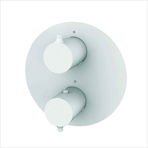 Bathwise brassware - Colour-line V 2 outlet round shower valve