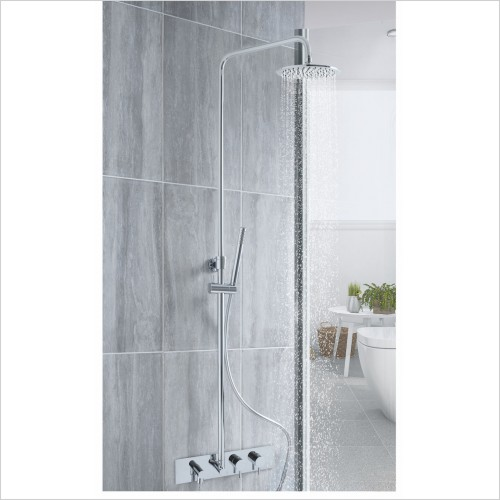 Bathwise brassware - clean-line 2 outlet concealed column shower set